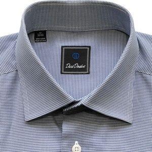 DAVID DONAHUE Houndstooth Dress Shirt 17 32/33